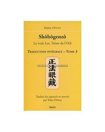 SHOBOGENZO EDITION INTEGRALE TOME 3