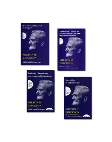 Intégrale des articles de Milton H. Erickson sur l'hypnose - set de 4 tomes