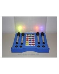 Malette Multilux  (4 Lampes de Chromopuncture + 18 filtres de couleur)