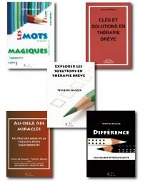 Set DE SHAZER 5 titres : Explorer, Différence, Les mots, Au-delà des miracles, Clés et solutions