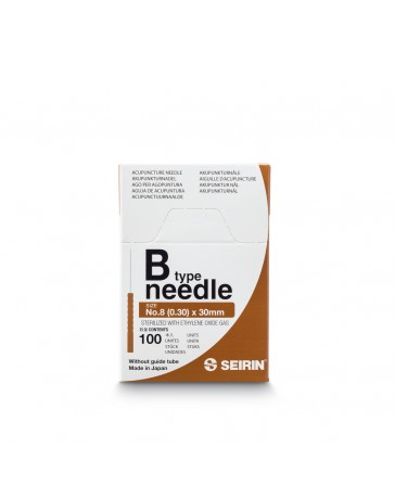 Seirin® 0,30 x 30mm - B8-30 - sans guide (100pcs/boîte)