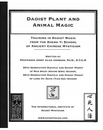 Daoist Mineral, Plant, and Animal Magic - The Secret Teaching of Esoteric Daoist Magic