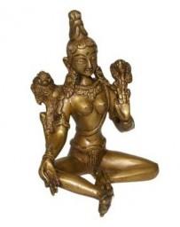 Statue Dakini assise - laiton