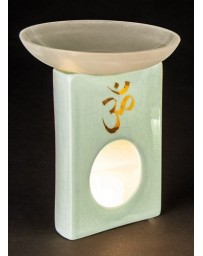"Aromatherapy lamp ""OM"" (turquoise craquelling glaze)"