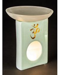 "Aromatherapy lamp ""OM"" (turquoise craquelling glaze)"