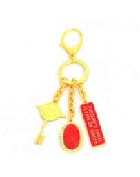 Porte-bonheur Mardi - corail rouge