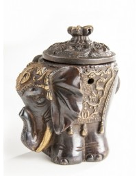 Incense burner elephant - brass
