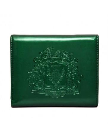 Portefeuille avec Blason des Alliés Serpent, Buffle et Coq (vert)