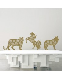 Alliés astrologiques: Tigre, Cheval et Chien (stickers)