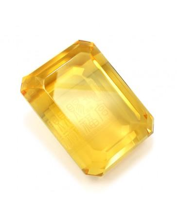 Diamant rectangulaire ambré