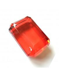 Diamant rectangulaire rouge