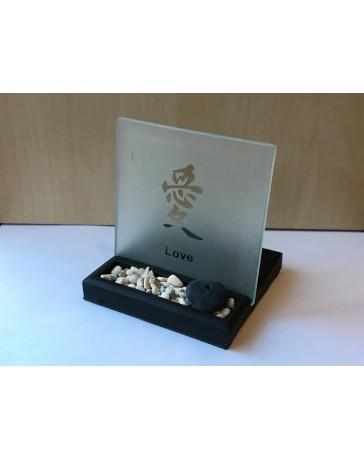 """Tea Light Zengarden """"Love"""" (10 X 10 cm)"""