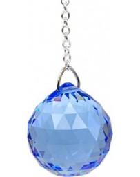 Boule de cristal Feng Shui (30 mm) Saphir medium: Vishudda