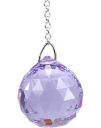 Boule de cristal Feng Shui (30 mm) Violet: Sahasrara