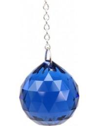 Boule de cristal Feng Shui (30 mm) Saphir foncé: Ajna