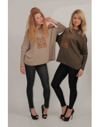 Double happiness sweat shirt brown (one size)