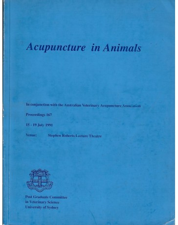 Acupuncture in Animals - Symposium from Post Graduate Committee