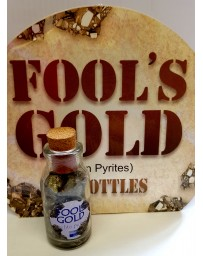Fool's Gold (pyrites de fer) en bouteille